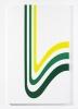 Laque automobile sur tôle, papier adhésif, vernis<br/>175 x 110 x 8 cm<br/>©François Fernandez
